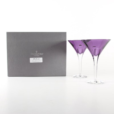 "Waterford Crystal ""Eclipse"" Amethyst Martini Glasses, 2005–2008"