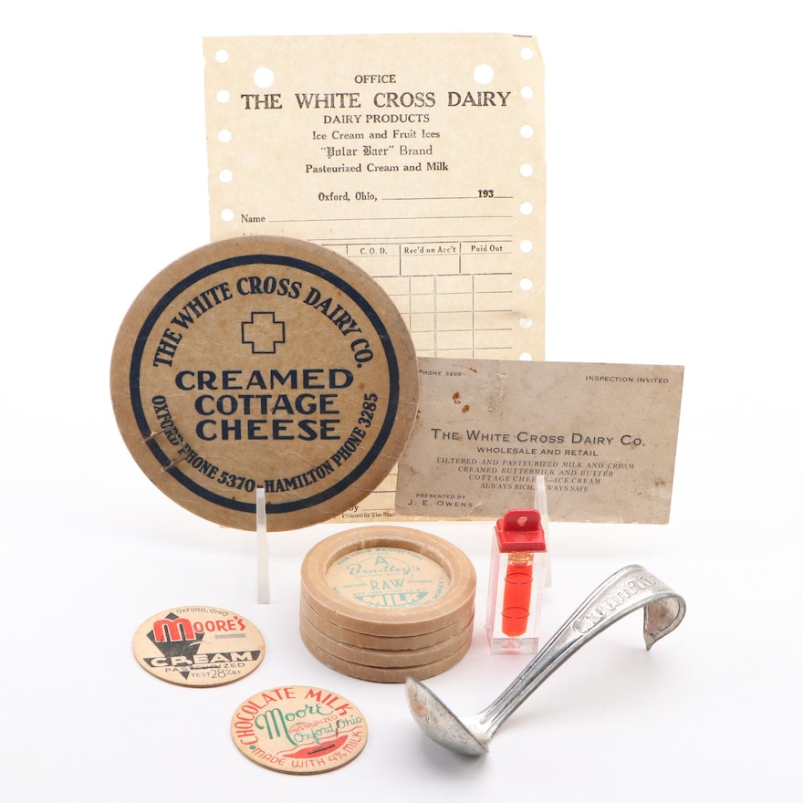 White Cross Dairy Co. and Other Oxford Area Dairy Advertising