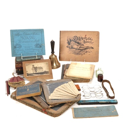Schoolhouse Educational Books and Supplies, Mid-Late 19th C
