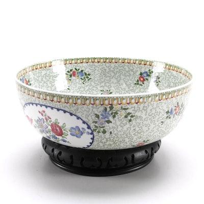 Copeland  Spode Floral Centerpiece Bowl on Stand, Vintage