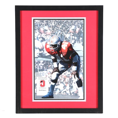 Keith Byars Autographed Offset Lithograph Poster, Ohio State Football, 2019