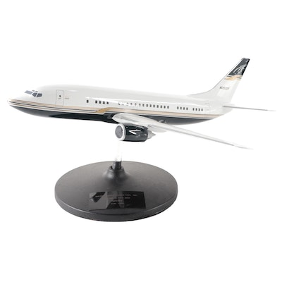 """Magic Carpet Aviation Inc."" Boeing B-737-300 Model Plane with Display Stand"