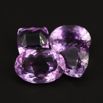 Loose 36.97 CTW Faceted Amethysts