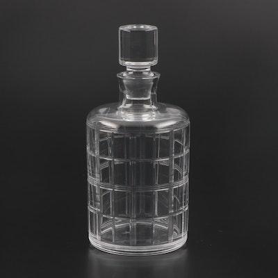 "Ralph Lauren ""Hudson Plaid"" Crystal Decanter"