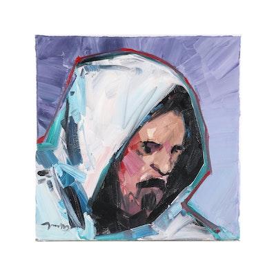"Jose Trujillo Oil Painting ""The Sage"", 2020"