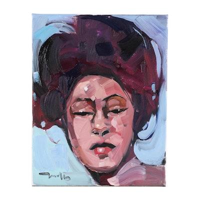 "Jose Trujillo Oil Painting ""Peaceful Moments"", 2020"
