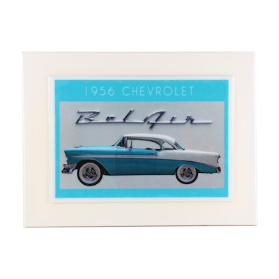 "Jesse Best Embellished Offset Lithograph ""1956 Chevrolet Bel Air,"" 21st Century"