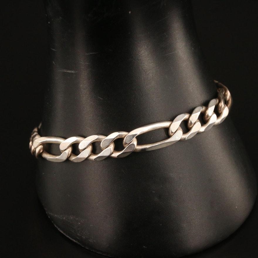 Sterling Figaro Link Bracelet