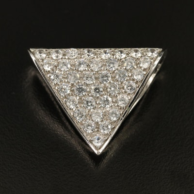 Sterling Silver Cubic Zirconia Enhancer Pendant