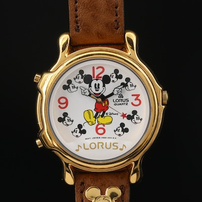 Lorus Mickey Mouse Musical Quartz Wristwatch