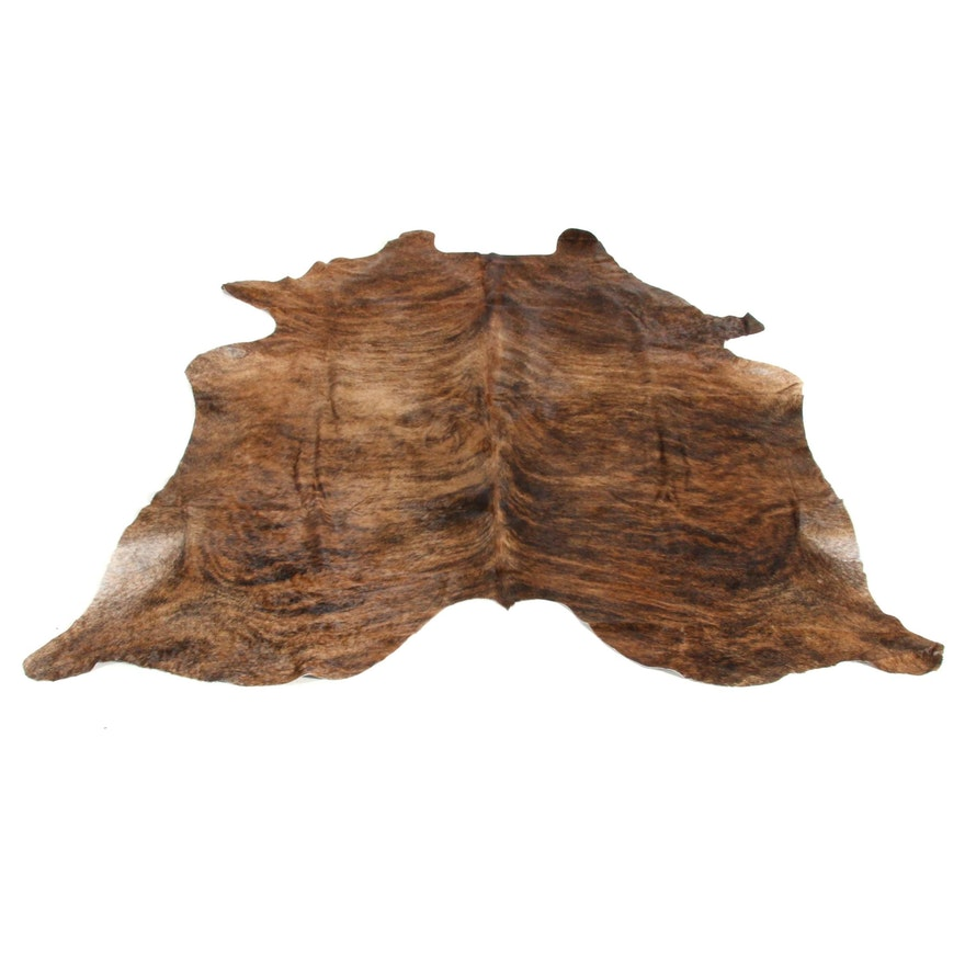 6'2 x 6'5 Natural Cow Hide Area Rug
