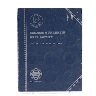 Whitman Binder of Franklin Silver Half Dollars, 1948 to 1958