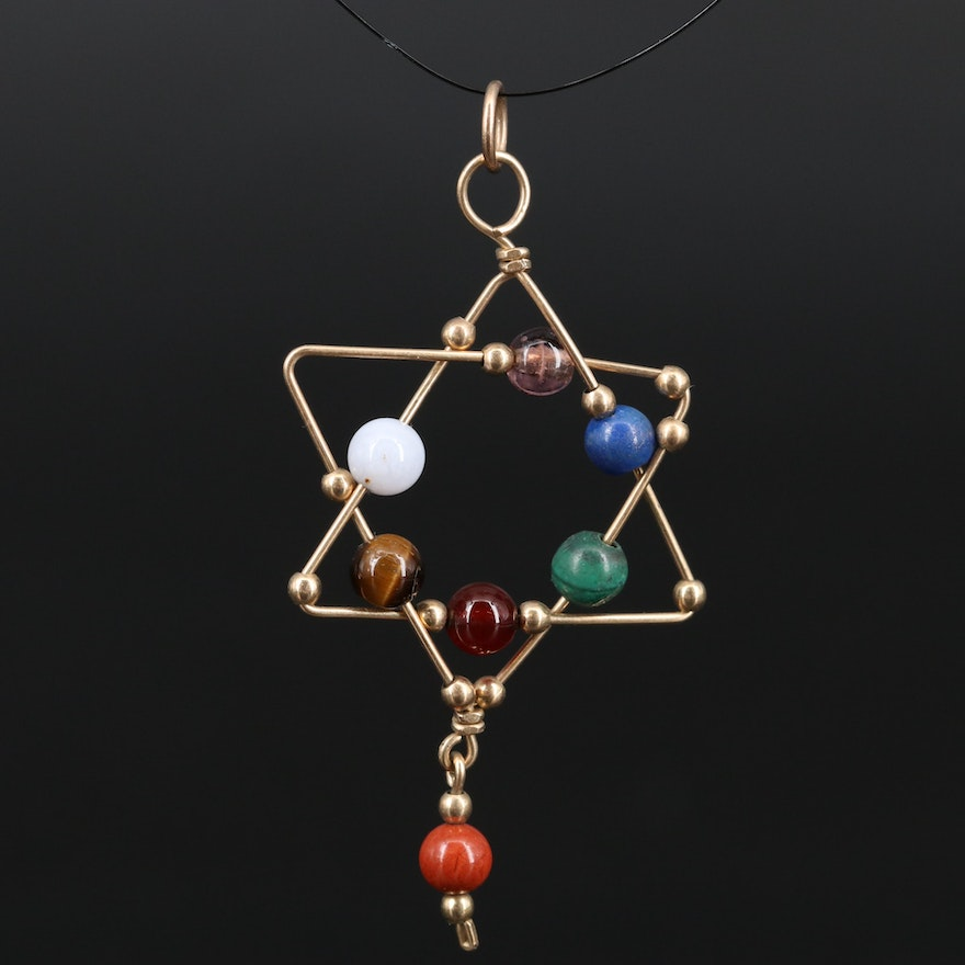 Star of David Pendant with Gemstone Accents