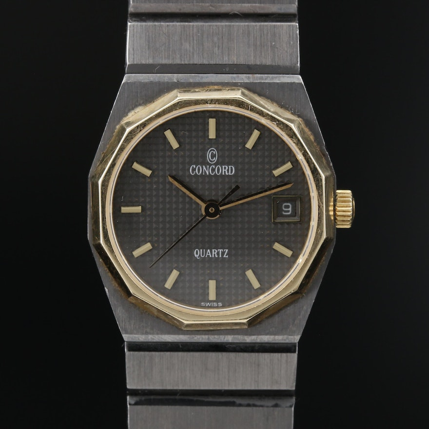 Concord Mariner 18K and Stainless Steel Quartz Wristwatch