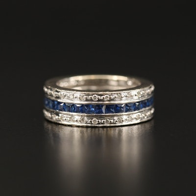 18K Sapphire and Diamond Eternity Band