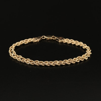 14K Nautical Knot Motif Chain Bracelet