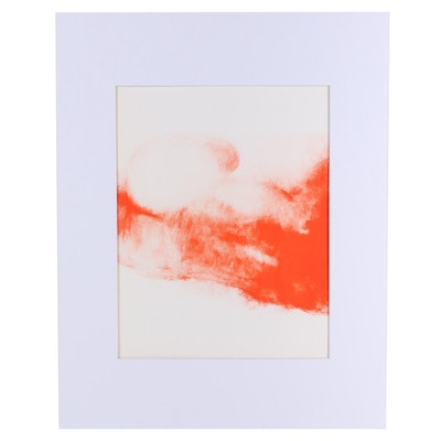 """Claude Garache Lithograph for """"Derrière le Miroir,"""" 1977"""