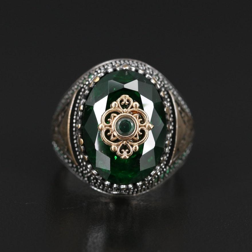 Sterling Glass Ring
