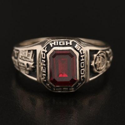 14K Ruby High School Class Ring