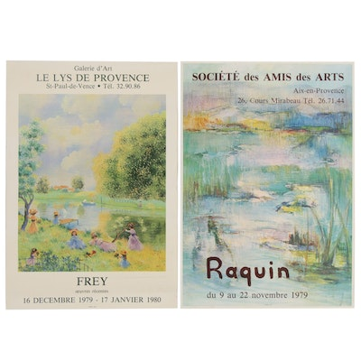 French Exhibition Posters for Frey and Raquin, Late 20th Century
