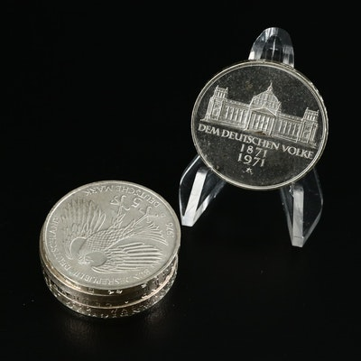 German Silver Commemorative 5 Mark Coins