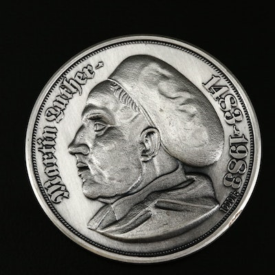 .999 Fine Silver 500th Anniversary of Martin Luther's Birth Medal, 1983