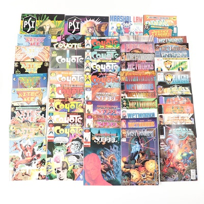 """Collection of Comic Books Including """"Coyote"""" and """"WildC.A.T.s"""""""