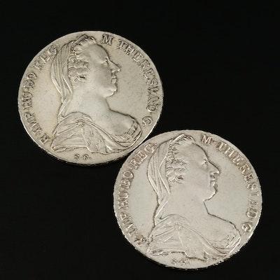 1780 (Restrike) Maria Theresa Thaler Silver Bullion Coins