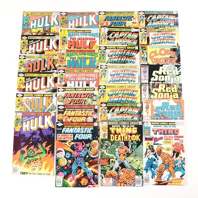 "1970s Marvel Comics Including ""Captain America"" and ""The Incredible Hulk"""