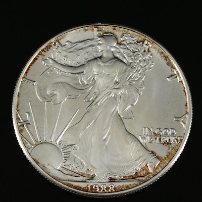 1988 Silver Eagle Bullion Dollar Coin