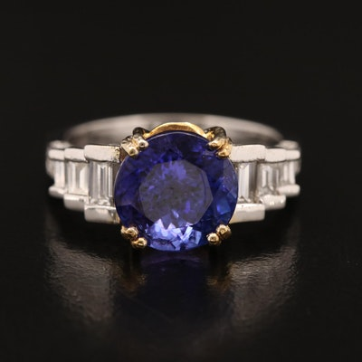 14K 4.02 CT Tanzanite and 1.00 CTW Diamond Ring