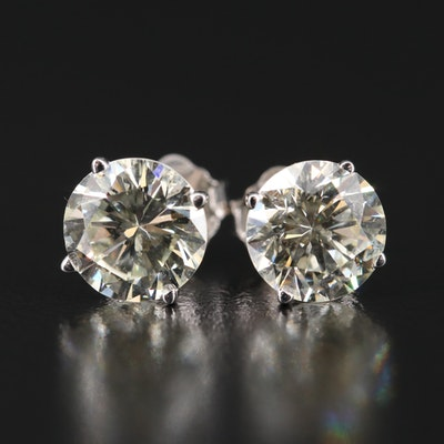 14K 2.57 CTW Diamond Stud Earrings with GIA eReports