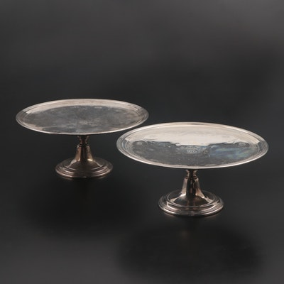 Tiffany & Co. Sterling Silver Pedestal Cake Stands, Early 20th Century