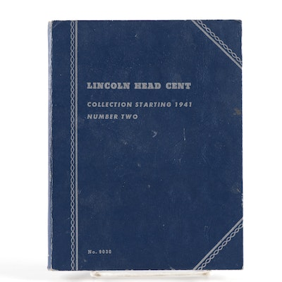 Lincoln Head Cent Collection in Whitman Coin Book, 1941–1983