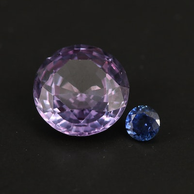 Loose Laboratory Grown Round Faceted Sapphires