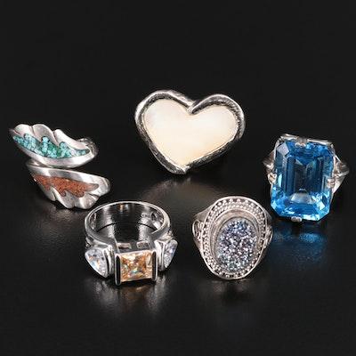 Sterling Silver Gemstone Rings Featuring Robert Lee Morris