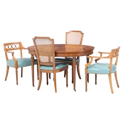 Kindel Furniture Louis XVI Style Cherrywood Dining Set, Mid to Late 20th Century