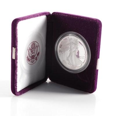 1990-S American Silver Eagle $1 Proof Bullion Coin
