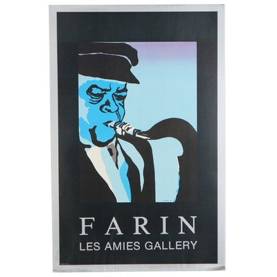 Lithograph Exhibition Poster after Avi Farin for Les Amies Gallery, circa 1981