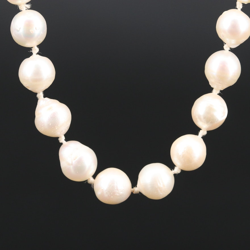 Semi-Baroque Endless Pearl Necklace