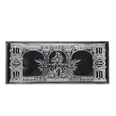 .999 Fine Silver $10 4 Troy Ounce Lewis and Clark Ingot