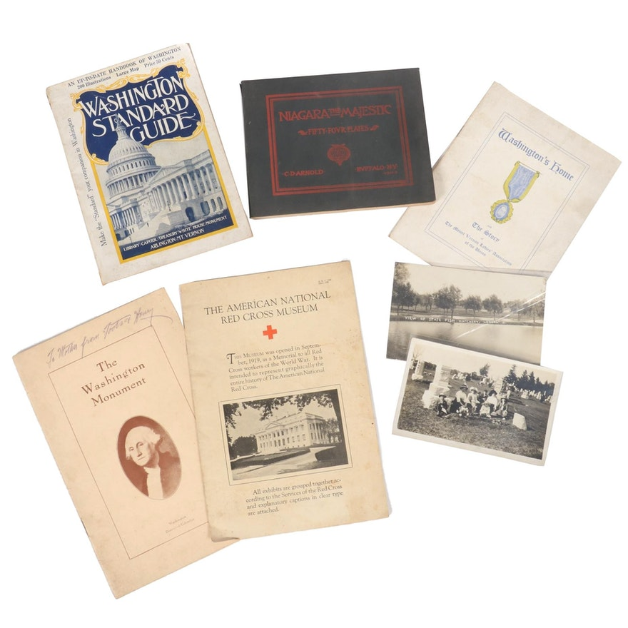 Tourist Guides with Souvenir Postcards and Pamphlets, Early 20th Century