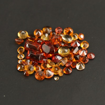 Loose 8.04 CTW Faceted Citrines