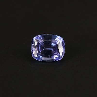 Loose 1.88 CT Cushion Faceted Tanzanite