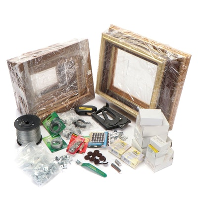 Wood and Composite Wall Hanging Frames, Mounting Tools, and Supplies