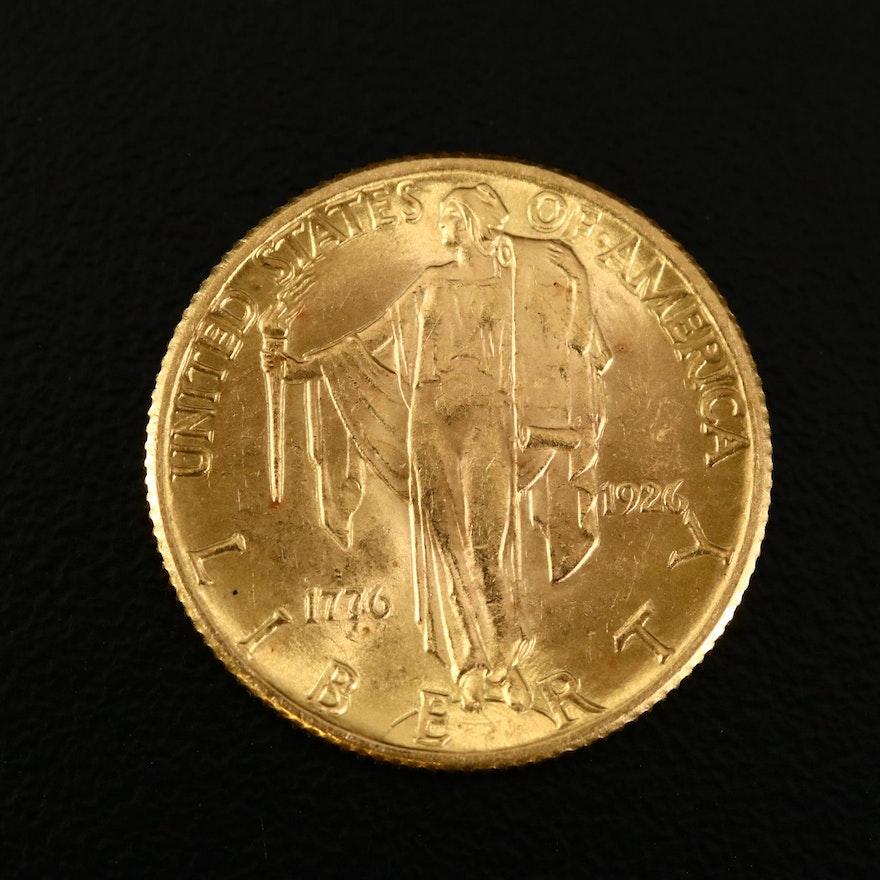 1926 U.S. Sesquicentennial Commemorative Gold Quarter Eagle