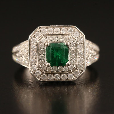 14K Emerald and 1.90 CTW Diamond Ring