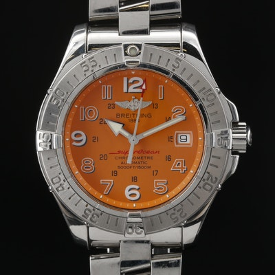 Breitling SuperOcean Stainless Steel Automatic Wristwatch