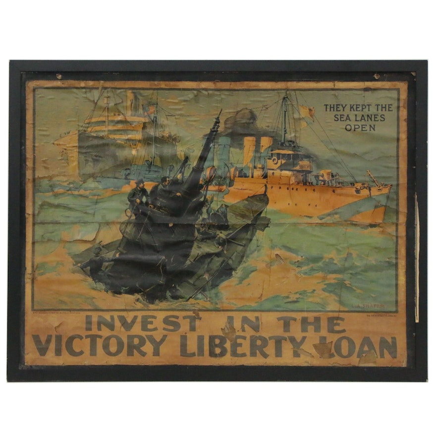 "World War I ""Invest In The Victory Liberty Loan"" Poster, ca. 1919"