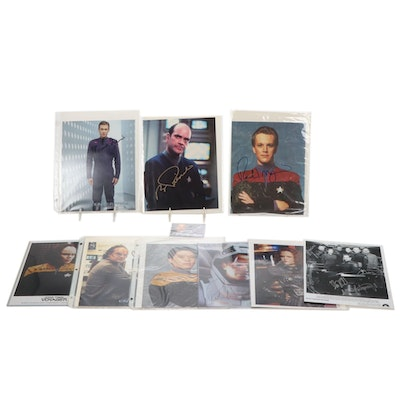 "Star Trek ""Voyager"" and ""Enterprise"" Cast Signed Photographs"